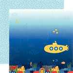 Echo Park - Under the Sea Collection - 12 x 12 Double Sided Paper - Submarine Scene