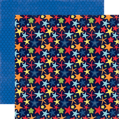 Echo Park - Under the Sea Collection - 12 x 12 Double Sided Paper - Happy Starfish