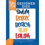 Echo Park - Under the Sea Collection - Designer Dies - Beach Fun Word