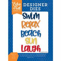 Echo Park - Under the Sea Collection - Designer Dies - Beach Fun Word