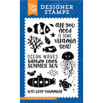 Echo Park - Under the Sea Collection - Clear Acrylic Stamps - Vitamin Sea