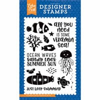 Echo Park - Under the Sea Collection - Clear Photopolymer Stamps - Vitamin Sea