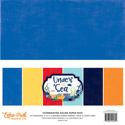 Echo Park - Under the Sea Collection - 12 x 12 Paper Pack - Solids