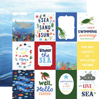 Echo Park - Under Sea Adventures Collection - 12 x 12 Double Sided Paper - 3 x 4 Journaling Cards