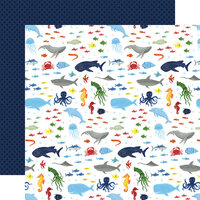Echo Park - Under Sea Adventures Collection - 12 x 12 Double Sided Paper - Wonders Of The Sea