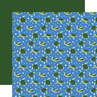 Echo Park - Under Sea Adventures Collection - 12 x 12 Double Sided Paper - Twirling Turtles