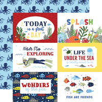 Echo Park - Under Sea Adventures Collection - 12 x 12 Double Sided Paper - 6 x 4 Journaling Cards