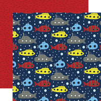 Echo Park - Under Sea Adventures Collection - 12 x 12 Double Sided Paper - Swimming Submarines