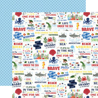 Echo Park - Under Sea Adventures Collection - 12 x 12 Double Sided Paper - Vitamin Sea