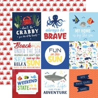 Echo Park - Under Sea Adventures Collection - 12 x 12 Double Sided Paper - 4 x 4 Journaling Cards