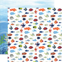 Echo Park - Under Sea Adventures Collection - 12 x 12 Double Sided Paper - Fish Are Friends