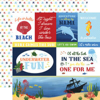 Echo Park - Under Sea Adventures Collection - 12 x 12 Double Sided Paper - Multi Journaling Cards