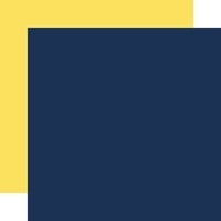 Echo Park - Under Sea Adventures Collection - 12 x 12 Double Sided Paper - Dark Blue and Yellow