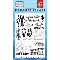 Echo Park - Under Sea Adventures Collection - Clear Photopolymer Stamps - Make Waves