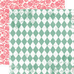 Echo Park - Victoria Garden Collection - 12 x 12 Double Sided Paper - Picket Fence