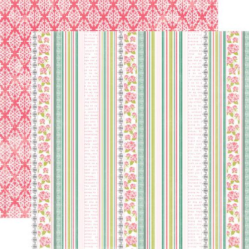 Echo Park - Victoria Garden Collection - 12 x 12 Double Sided Paper - Garden Trellis