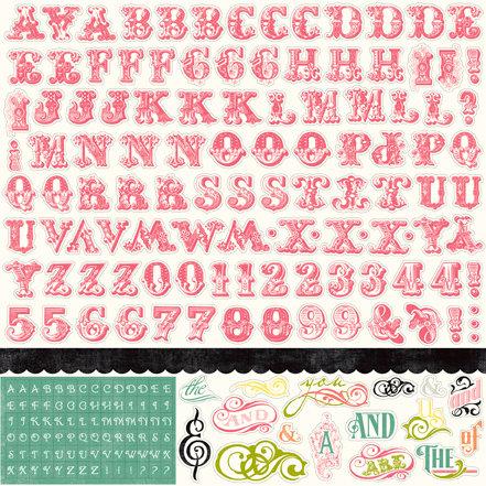Echo Park - Victoria Garden Collection - 12 x 12 Cardstock Stickers - Alphabet
