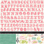 Echo Park - Victoria Garden Collection - 12 x 12 Cardstock Stickers - Alphabet