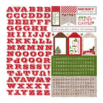 Echo Park - A Very Merry Christmas Collection - 12 x 12 Cardstock Stickers - Alphabet