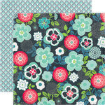 Echo Park - We Are Family Collection - 12 x 12 Double Sided Paper - Family Floral