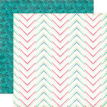 Echo Park - We Are Family Collection - 12 x 12 Double Sided Paper - Dotted Chevron
