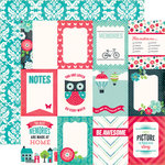 Echo Park - We Are Family Collection - 12 x 12 Double Sided Paper - 3 x 4 Journaling Cards