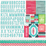 Echo Park - We Are Family Collection - 12 x 12 Cardstock Stickers - Alphabet