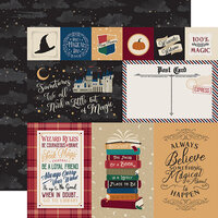 Echo Park - Witches and Wizards Collection - 12 x 12 Double Sided Paper - Journaling Cards