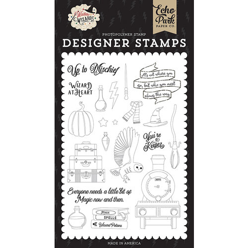 Echo Park - Witches and Wizards Collection - Clear Photopolymer Stamps - Wizard at Heart