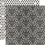 Echo Park - Wedding Bliss Collection - 12 x 12 Double Sided Paper - Darling Damask