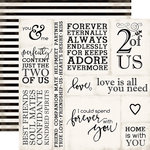 Echo Park - Wedding Bliss Collection - 12 x 12 Double Sided Paper - Loving Words