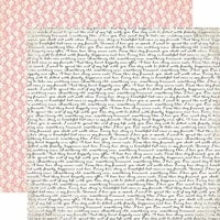 Echo Park - Wedding Bliss Collection - 12 x 12 Double Sided Paper - Wedding Script
