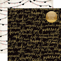 Echo Park - Wedding Bliss Collection - 12 x 12 Double Sided Paper with Foil Accents - Forever and Always