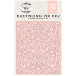 Echo Park - Wedding Bliss Collection - Embossing Folder - Dainty Damask