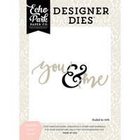 Echo Park - Wedding Bliss Collection - Designer Dies - You and Me Word