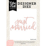 Echo Park - Wedding Bliss Collection - Designer Dies - Just Married Word