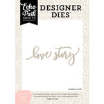 Echo Park - Wedding Bliss Collection - Designer Dies - Love Story Word