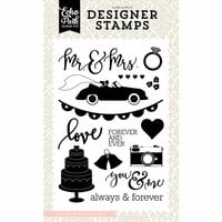 Echo Park - Wedding Bliss Collection - Clear Photopolymer Stamps - Mr and Mrs