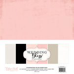 Echo Park - Wedding Bliss Collection - 12 x 12 Paper Pack - Solids