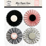 Echo Park - Wedding Bliss Collection - Mini Paper Fans