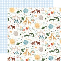 Echo Park - Welcome Baby Boy - 12 x 12 Double Sided Paper - Animals