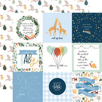 Echo Park - Welcome Baby Boy - 12 x 12 Double Sided Paper - 4 x 4 Journaling Cards