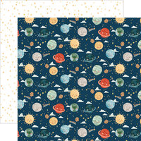 Echo Park - Welcome Baby Boy - 12 x 12 Double Sided Paper - Planets