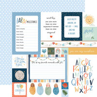Echo Park - Welcome Baby Boy - 12 x 12 Double Sided Paper - Multi Journaling Cards
