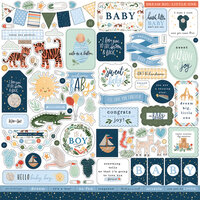Echo Park - Welcome Baby Boy - 12 x 12 Cardstock Stickers - Elements