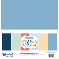 Echo Park - Welcome Baby Boy - 12 x 12 Paper Pack - Solids