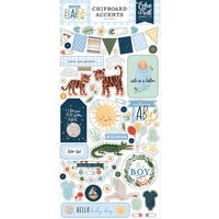 Echo Park - Welcome Baby Boy - Chipboard Stickers - Accents