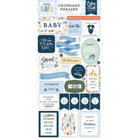 Echo Park - Welcome Baby Boy - Chipboard Stickers - Phrases