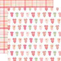 Echo Park - Welcome Baby Girl Collection - 12 x 12 Double Sided Paper - Bundle of Joy