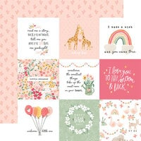 Echo Park - Welcome Baby Girl Collection - 12 x 12 Double Sided Paper - 4 x 4 Journaling Cards